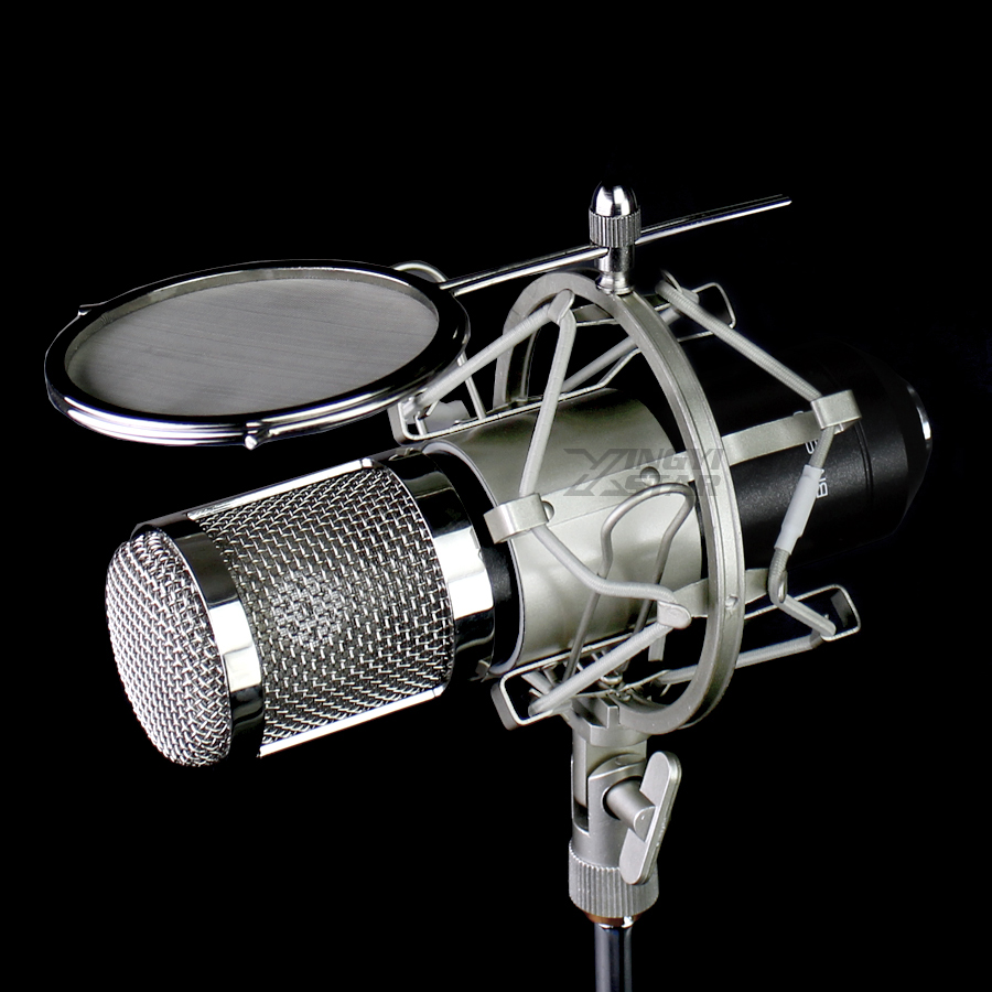 Spinne Mikrofon Pop Filter Shock Mount Mic Isolation Schild Desktop Stehen Windschutzscheibe Für Mxl Studio Dx2 R144 V69m V67g V87 910 Mikrofonstativ