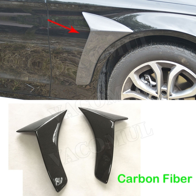 Carbon Fibre C Class Black Front Side Fender Vent Cover for Mercedes Benz W205 C200 C300 2015-2017