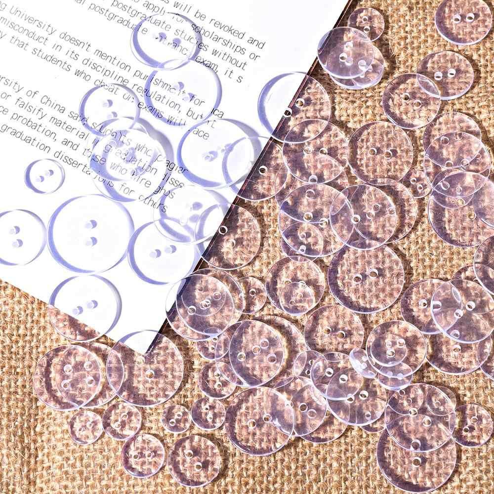 9-25 ミリメートル透明ボタンクリア縫製ポリエステル樹脂のシャツボタン Diy Bottones Apparrel アクセサリー