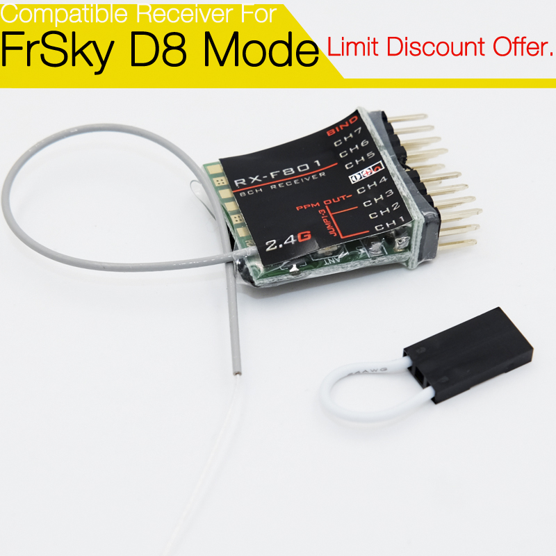 F801 8 channel Non-Telemetry Receiver for FrSky Taranis X9D/ X9D P/ QX7, XJT, DFT, DJT, DHT modules корабельный движитель 9 7 8 x 13 f yamaha 20hp 25hp 30hp 9 7 8 x 13 f