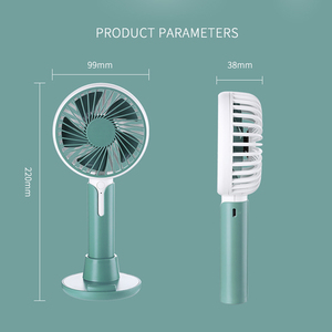 Image 5 - Mini fan usb charging three speed wind office desktop mute small fan outdoor portable usb handheld fan