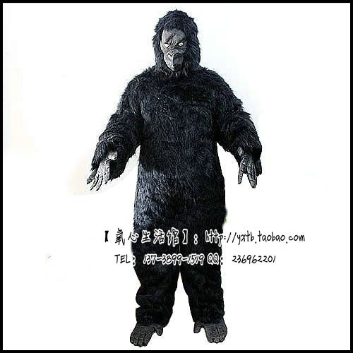 Halloween cosplay Clothing Clothes costume adult hairy gorilla King Kong gorilla costume dress сумка с полной запечаткой printio джинсовая