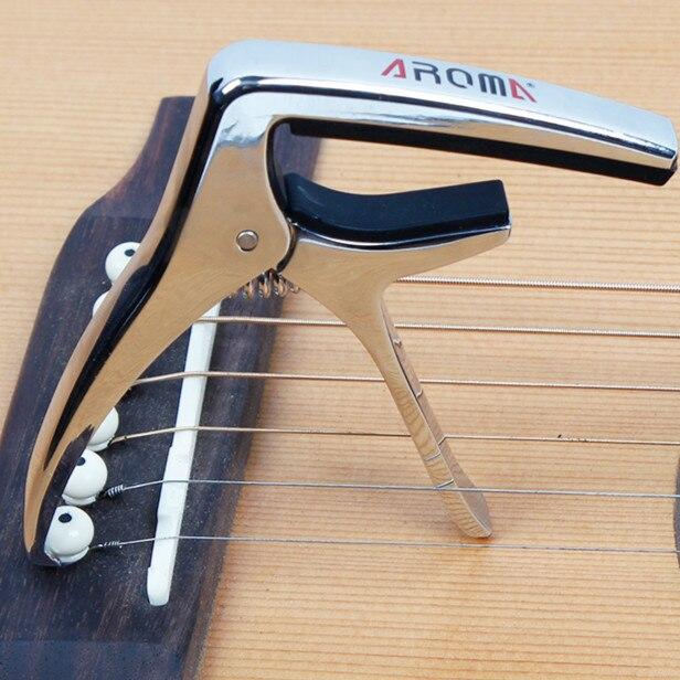 AC-21 Guitare Capo Métal Alliage Polyvalent Guitare Capo W/Pont Pin Puller Capotraste