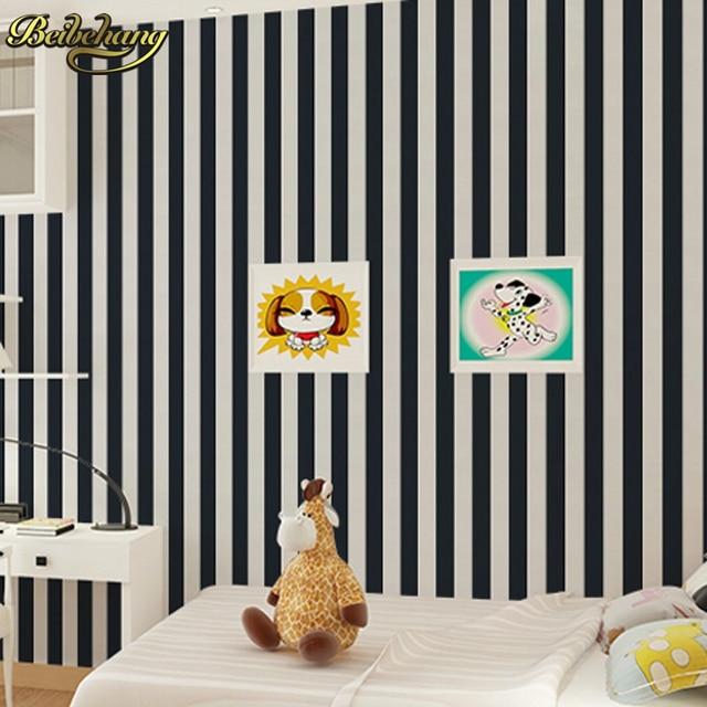 beibehang papel de parede 3d papel de parede black white stripe