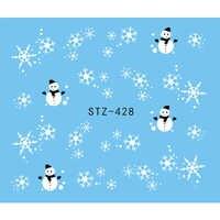 1 blatt Nagel Aufkleber Weihnachten Weiß Schwarz Schneeflocke Schneemann Decals Winter Nagel Wraps Dekoration Maniküre Werkzeuge Slider JISTZ428