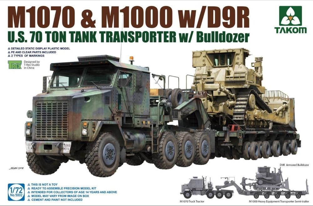 Takom 1/72 5002 US M1070 & M1000 W/D9R U.S.70 Ton Tank Transporter W Bulldozer