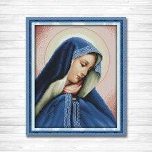 Иисуса мать богиня настенные декоративные картины Счетный напечатанный на холсте DMC 14CT 11CT вышивка крестиком наборы вышивки