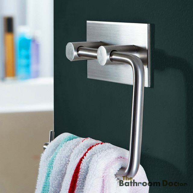 Stainless Steel Tissue Holder Toilet Paper 3m Self Adhesive Towel Rack 08