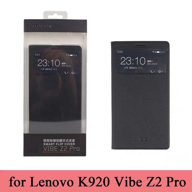 2015 novo clássico couro Flip inteligente para Lenovo Vibe Z2 Pro K920 marca Folio capa + protetor de tela moda tendência