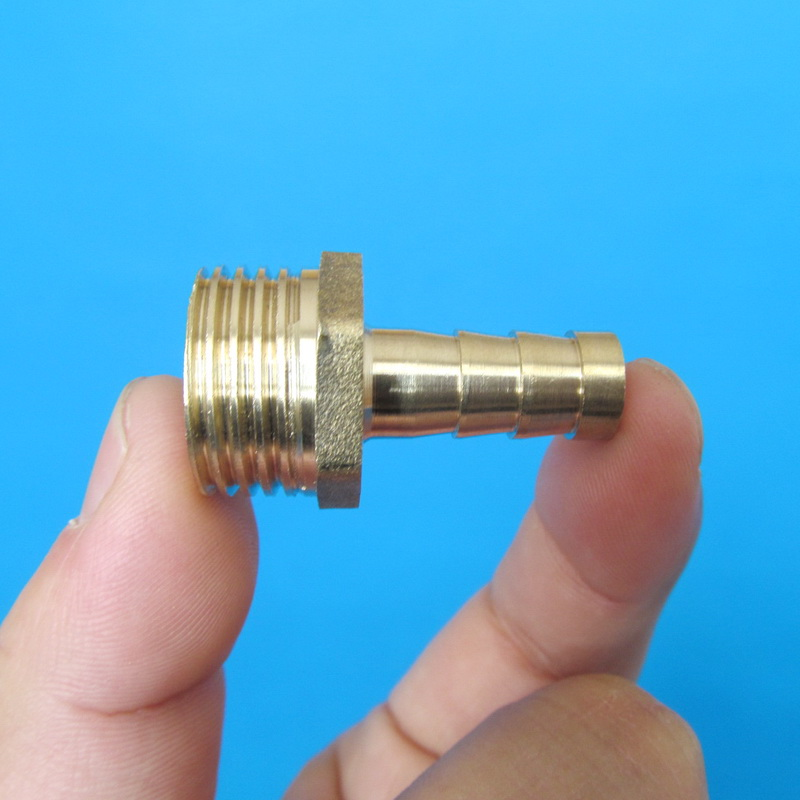 10mm Hose Barb Tail To 1 2 quot PT BSP Male Thread Straight Barbed Brass Connector Joint brass hose barb fittings in Pipe Fittings from Home Improvement