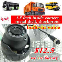 Factory Truck Camera 1 5 inch inside camera metal shell shockproof built in voice bus camera
