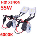 Hid Xenon kit AC 12 v 55 w balastos solo coche Auto luces de cruce lámpara H7 6000 k H1 H3 H8 H11 9005 9006 xenon Blanco Libre gratis