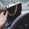 High Quality PU Leather Women Bag 2016 New Winter Fashion Exquisite Metal Chain Shoulder Messenger Mini Small Leather Bag Female