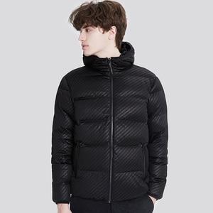Image 4 - Markless zima bez szwu dół kurtki marki odzież gruba 90% biały puch kaczy wiatroszczelna ciepły płaszcz kurtka z kapturem dla mężczyzn i kobiet