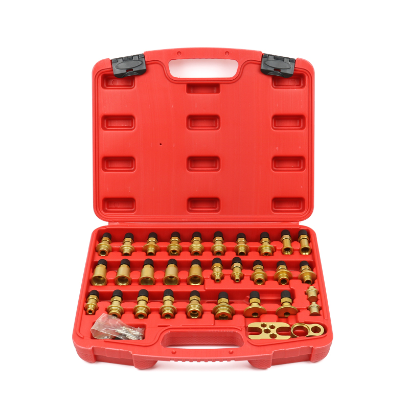 32 pieces Automobile air conditioning leak detection Joint tool set All aluminum car leakage test repair tool Y32 pieces Automobile air conditioning leak detection Joint tool set All aluminum car leakage test repair tool Y