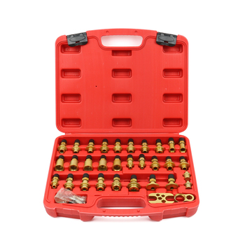 32 pieces Automobile air conditioning leak detection Joint tool set All aluminum car leakage test repair tool Y