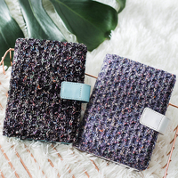 Creative Knitting Fabric Cover Notebook Schedule A6 Notebook Diary Stationery Papelaria