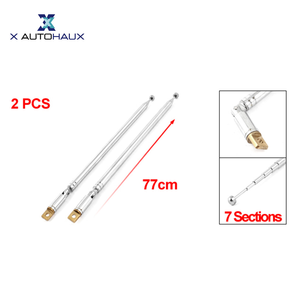 Car 3.5mm Connector 4 Sections TV Telescopic Antenna Aerial 13.5cm