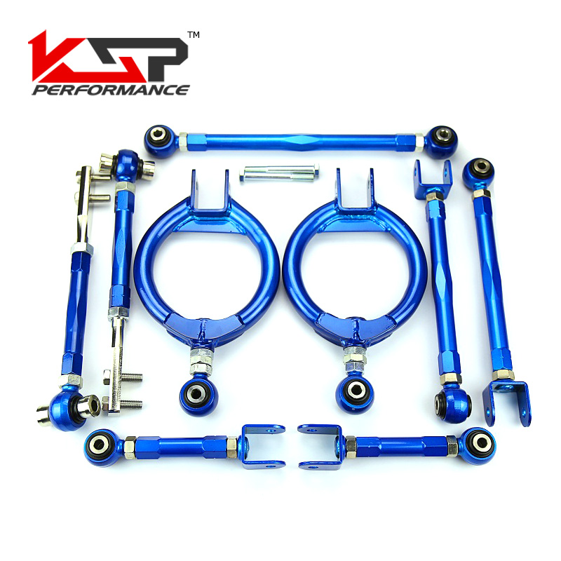 Kingsun Suspension Camber Kit+Control Toe Arms Traction Rods +Lower Traction Tie Bar For Nissan 240SX S13/300ZX Skyline R32