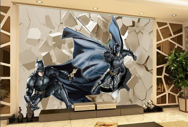 3D Cartoon Living Room TV Backdrop Wallpaper Brick Wall 3d Mural Paintings  3d Mural Designs Part 76