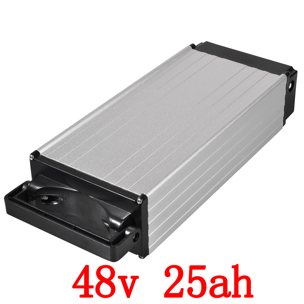 48V 25AH Rear Rack battery 48V 1000W Electric bike battery Use for SANYO 3500mah cell 30A BMS 54.6V 2A charger Free customs free free customs taxes super power 1000w 48v li ion battery pack with 30a bms 48v 15ah lithium battery pack for panasonic cell