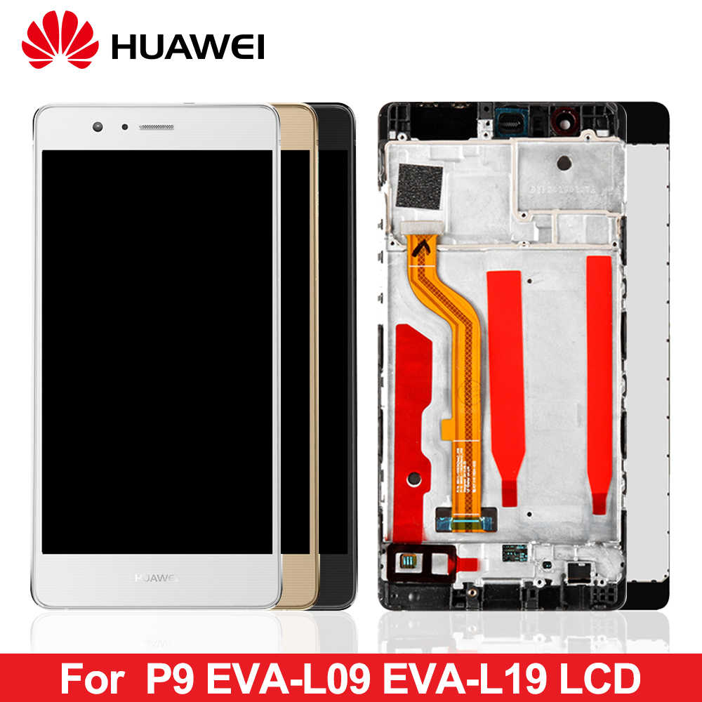 5.2'' Original LCD For Huawei P9 EVA-L09 L19 L29 LCD Display With Touch Screen Digitizer Assembly with frame free shipping