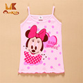 Monkids 2017 Brand Girls Tank Top Vest Children Cartoon Sling Baby Girl Summer Wear Tops Sleeveless Cool Camisole For 1-5Y