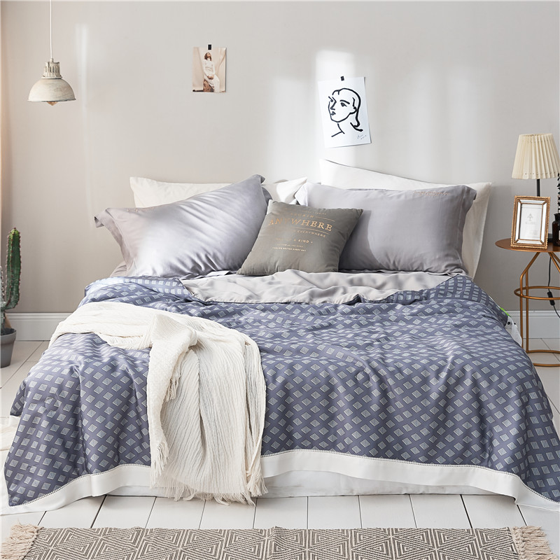 Gray Geometric printing Summer Quilt Blankets Soft Comforter Bedding Quilts tencel Quilted Gray Air Conditioner Summer Quilts Gray Geometric printing Summer Quilt Blankets Soft Comforter Bedding Quilts tencel Quilted Gray Air Conditioner Summer Quilts