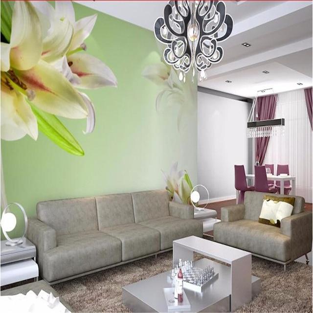 Beibehang fiori grande mural soggiorno divano tv sfondo for Carta da parete per camera da letto