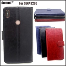Casteel Classic Flight Series high quality PU skin leather case For DEXP B260 Case Cover Shield