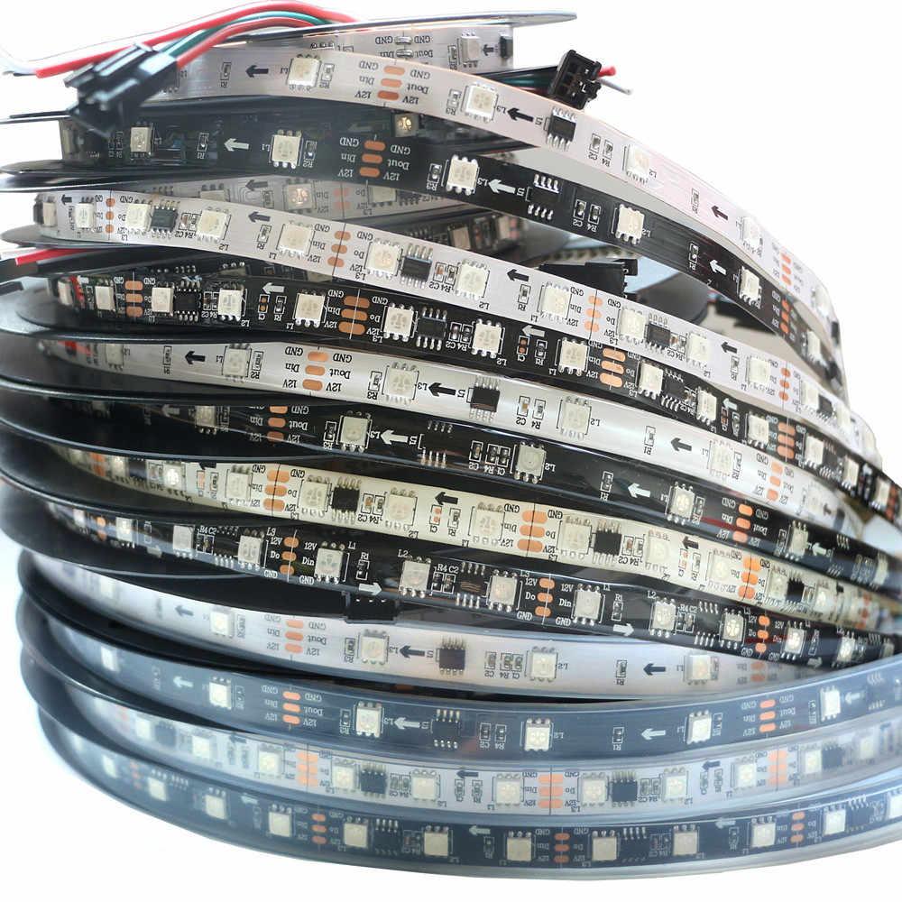 WS2811 2811 IC スマート Led ピクセルストリップライト 30/60 ピクセル/m DC12V 5050 RGB フルカラー個別にアドレス指定可能なデジタルテープランプ
