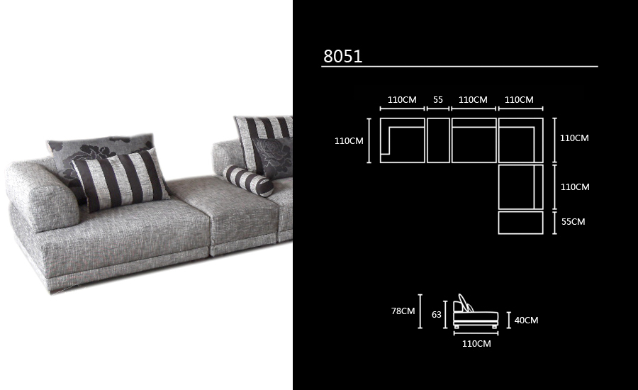 Free Shipping 2013 modern Design L shaped Corner Fabric Sofa, Best ...