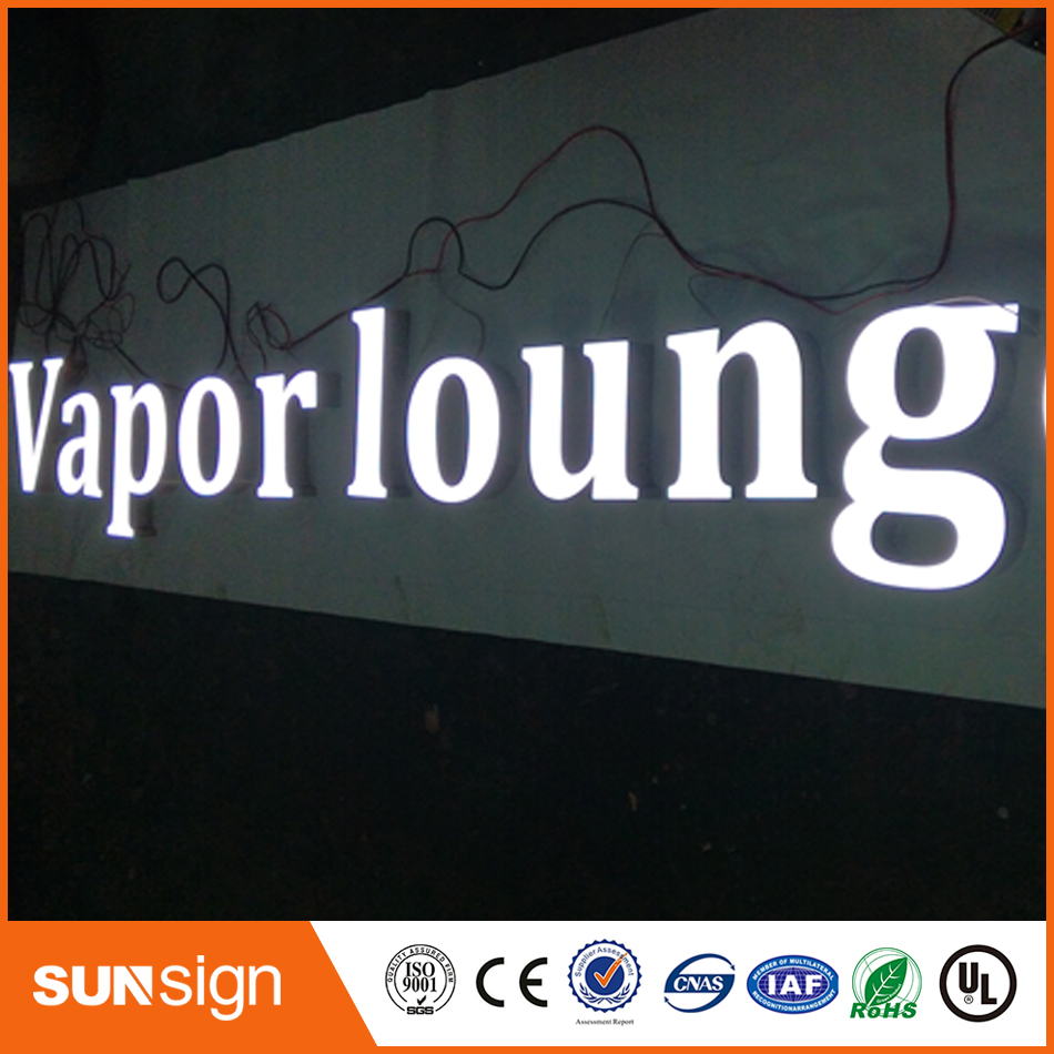 Custom Outdoor Epoxy Resin 3d Frontlit Led Channel Metal Letter Logo Electronic Components & Supplies