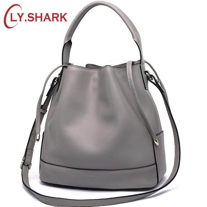 купить LY.SHARK Luxury Handbags Women Bags Designer Tote Crossbody Bag Shoulder Messenger Bags Handbag Genuine Leather Bag Bucket Purse по цене 2844.87 рублей