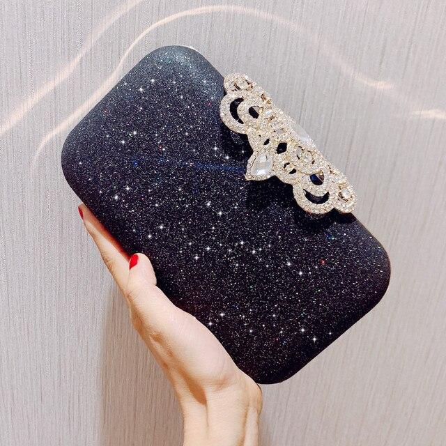 New fashion Sequined Scrub Clutch Women's Evening Bags Bling Day Clutches Gold Wedding Purse Female Handbag 5