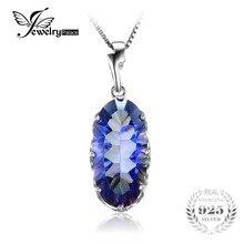 Jewelrypalace 11ct genuino del envío mystic blue rainbow topazs colgante esterlina del sólido 925 de plata de joyería de moda único accesorios de regalo