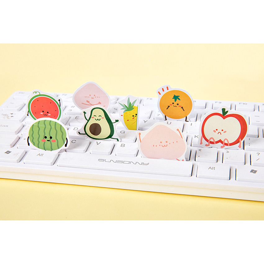 20pack lot Fruits Party Series DIY Dariy Decoration Scrapbooking Stickers Transparent washi Planner Stickers 6 selections in Stickers from Home Garden