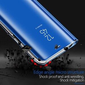 Image 2 - Funda de teléfono transparente con tapa para sony xperia XZ 3 XZ4, carcasa completa de cuero con espejo para sony xperia XZ 3 XZ 4