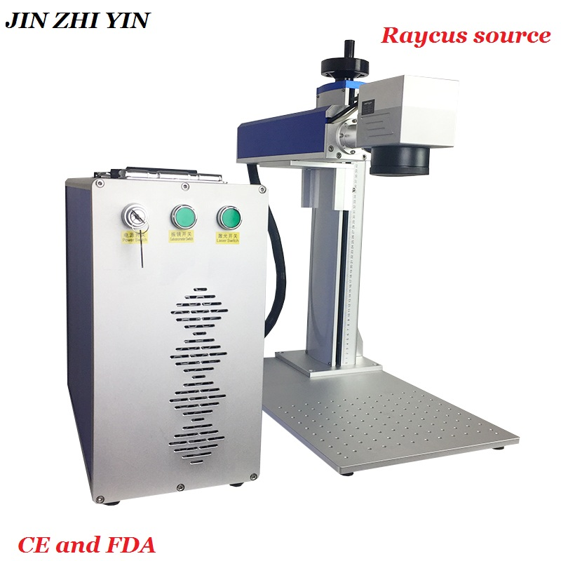Cheapest ! Raycus Source 50w Fiber Laser Marking Machine Metal Laser Engraver Cutter Cnc For Stainless Steel Gold Silver Jewelry