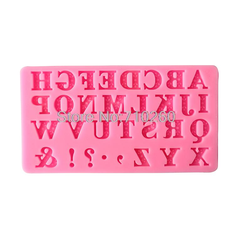 Capital English Letters and Punctuations fondant cakemolds chocolate mould forthe kitchen baking Sugarcraft DecorationTool
