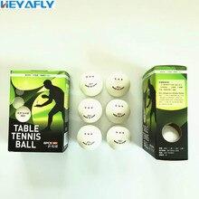 Три звезды высокое качество Настольный теннис 3/6 упаковка 40 мм ABS ROHS Материал соревнования обучение пинг-понг мяч для пинг-понга