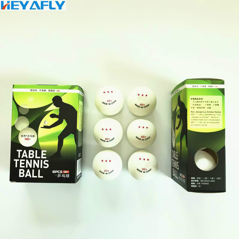 Three Stars High Quality Table Tennis 3/6 Packaging 40MM ABS ROHS Material Competition Training  Pingpong Ping-Pong Ball