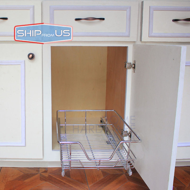 ship from us 12 width kitchen pull out basket wire baskets shelf