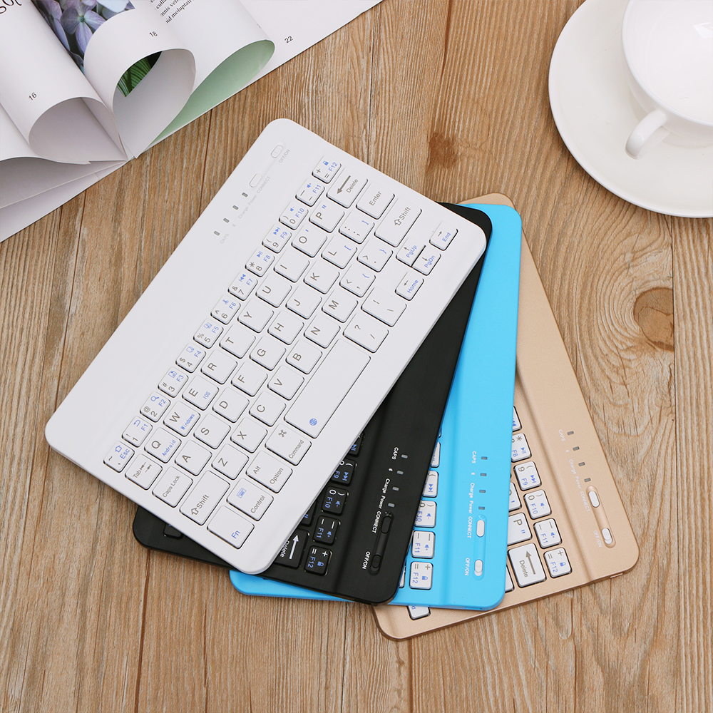 Bluetooth-Keyboard Tablet Laptop Phone iPad Rechargeable Surface Wireless Ultra-Slim