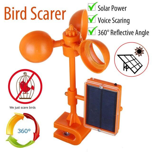 Solar Bird Scarer Repeller Kite Pigeon Repellent Keep Birds Away Deterrent Spike