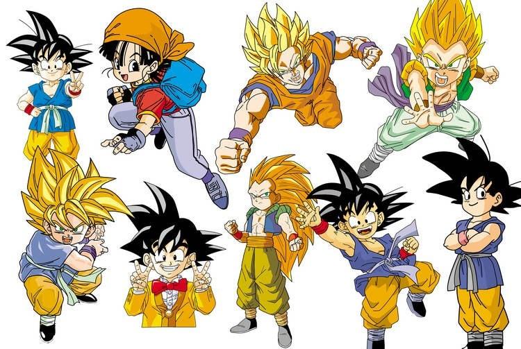 Japanese Anime Theme Dragon Ball Z Design 3d Wallp