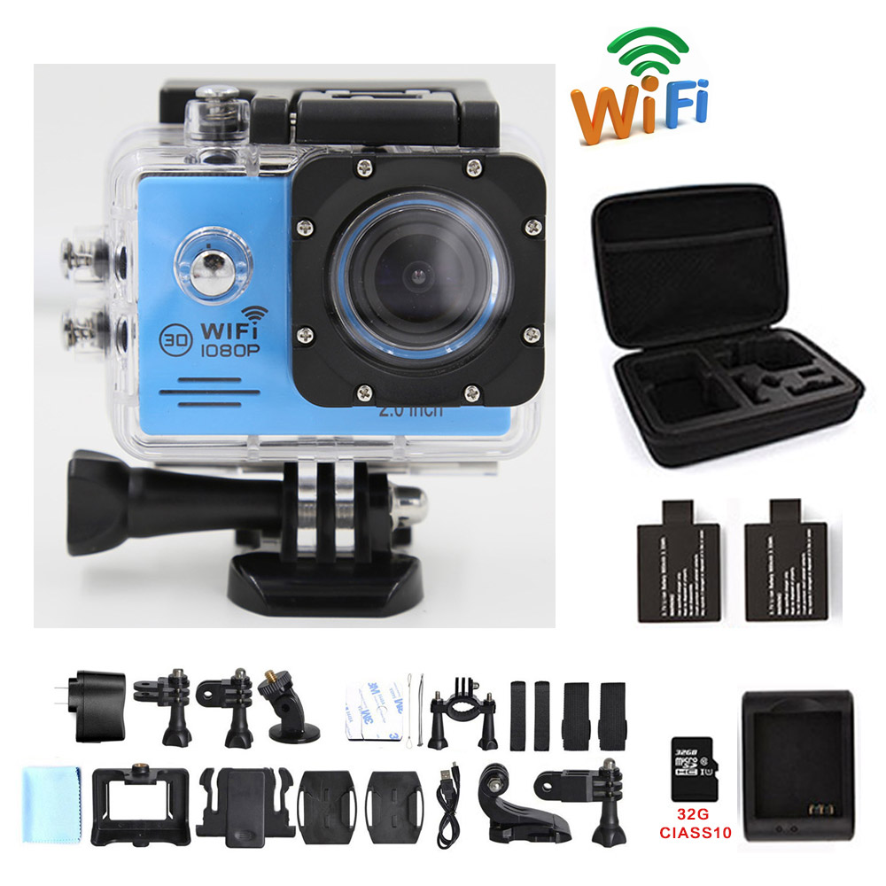 Action font b camera b font WIFI 16MP 1080P 30fps SJ plus cam Full HD xiao