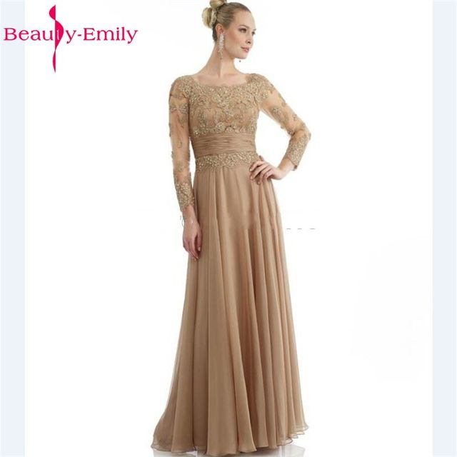 Aliexpress.com : Buy Beauty Emily Champagne Bride Mother Dresses ...