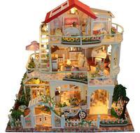 DIY Кукольный дом навсегда и всегда День Святого Валентина роскошный 3 слоя коттедж без пыли крышка Прямая доставка