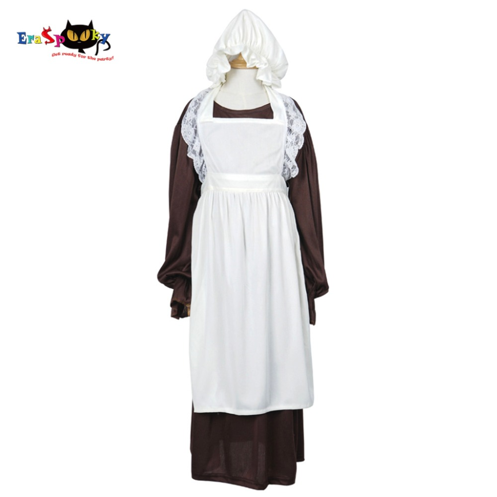 Victorian Maid Cosplay Costume Gadis Maid Dress Lengan Panjang - Kostum - Foto 1